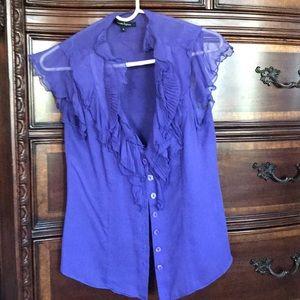 Nanette Lepore sleeveless ruffle blouse sz 4